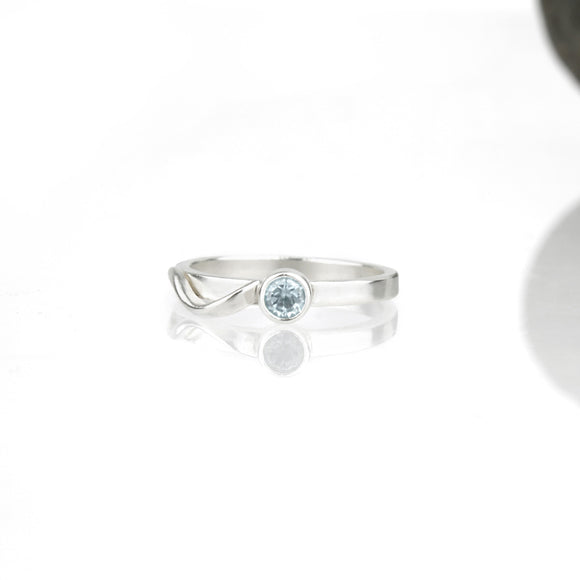Cascade Ring with Sky Blue Topaz