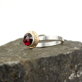 Compass Ring with Rose-cut Garnet