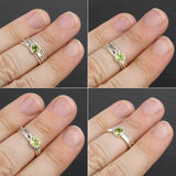 Sample Sale: Cascade Ring with 5mm Peridot