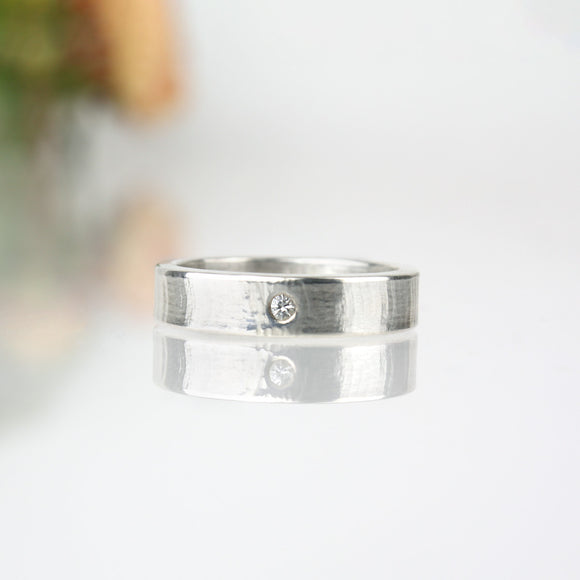 Ripple Ring with White Sapphire