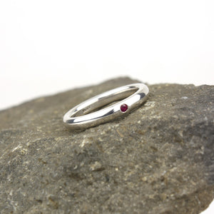 Comfort-fit Ruby Ring
