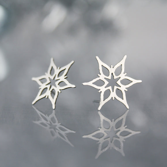 Snowflake Post Earrings