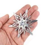 Snowflake Brooch with White CZ