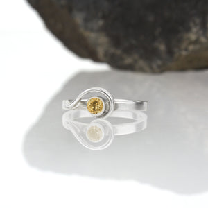 Spiral Ring with Citrine