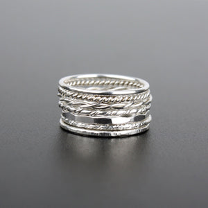 Silver Stacking Ring - Single Ring