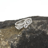 Sample Sale: Cascade Ring with White Sapphire