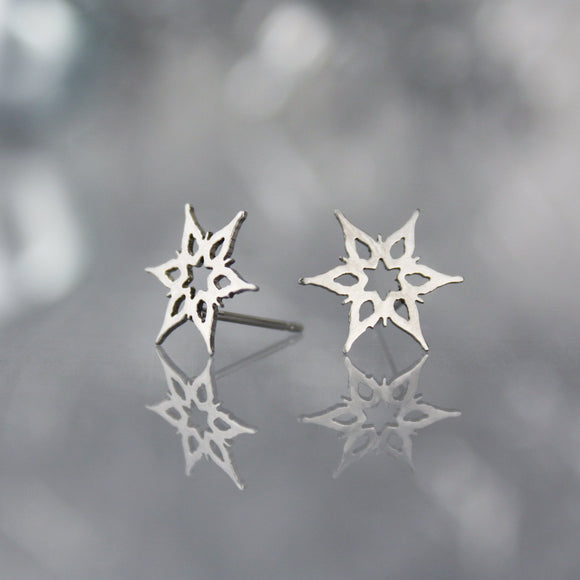 Mini Snowflake Post Earrings