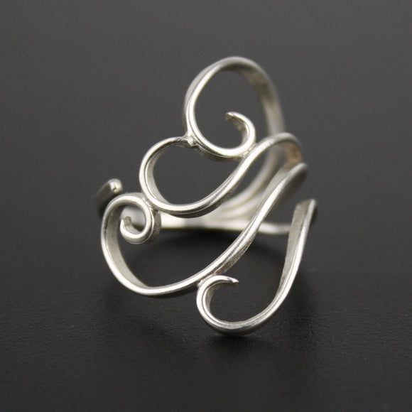 Adjustable Zephyr Ring - Sterling Silver