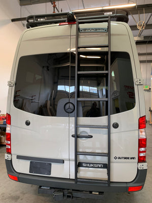 Shuksan Rear Door Ladder - Mercedes Sprinter High Roof