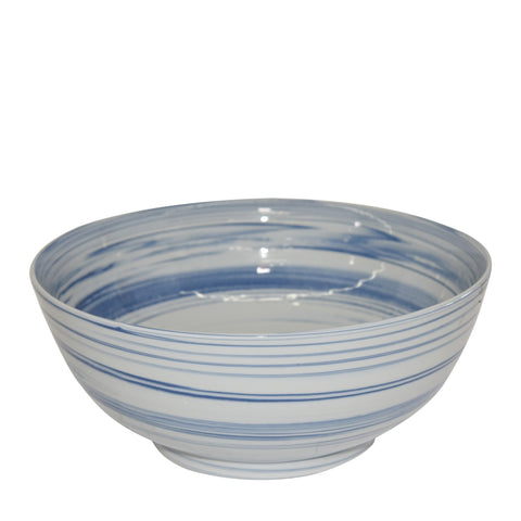 Blue and White Marbleized Bowl