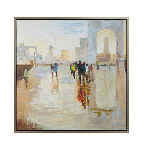 Walk on the Avenue Framed Print