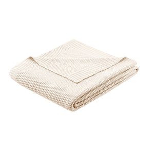 Bree Knit Throw Ivory