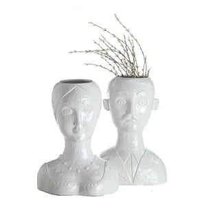 Female Head Vase