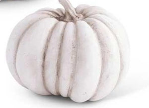 White Resin Pumpkin III