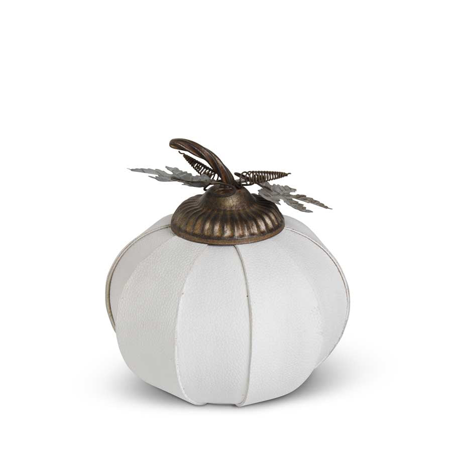 White Leather Pumpkin 9.5""