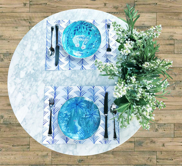Blue Willow Paper Placemats