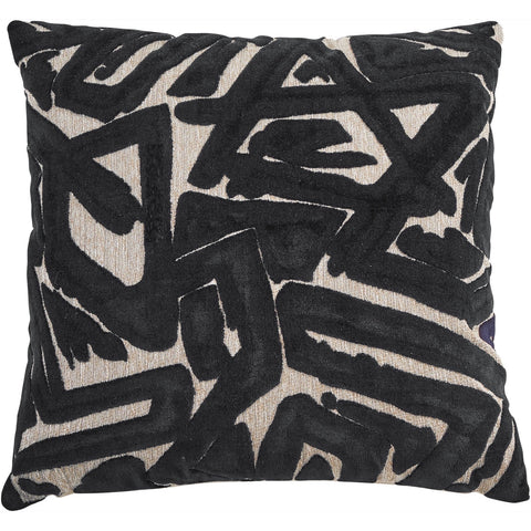 Abstract Black Pillow