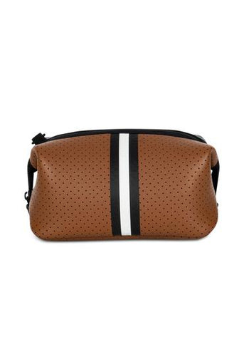 Brown Coated Cosmetic Case