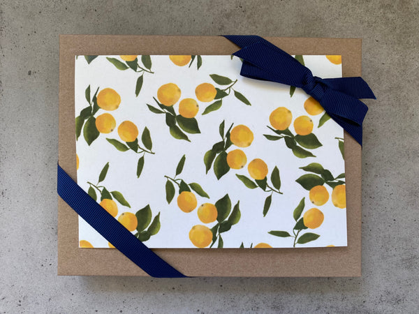 Hollypolly Prints Yellow Lemons Card Set