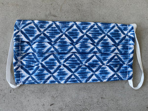 Electric Blue Pattern Face Mask