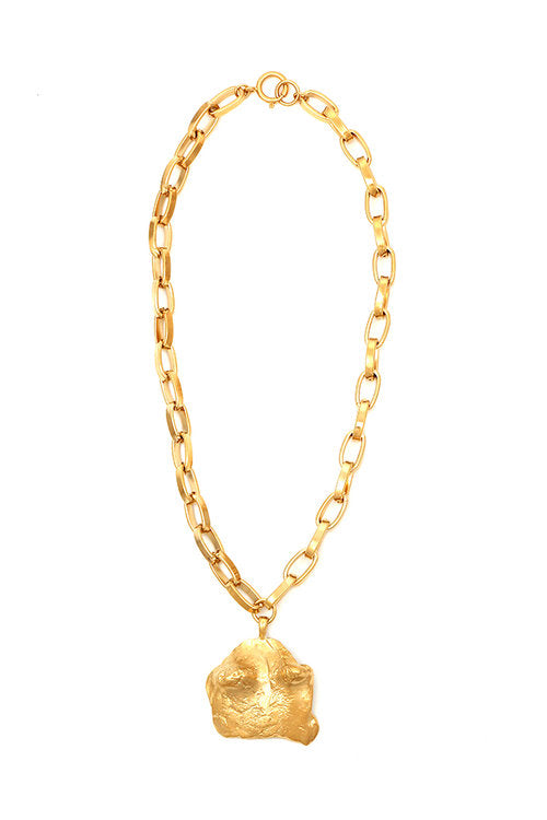 "Sylvia Benson Dunes Necklace in ""C"" on Large Drawn Chain"