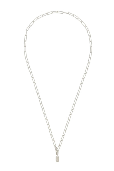 Petite Fortune Buoy Lariat Necklace in Sterling Silver