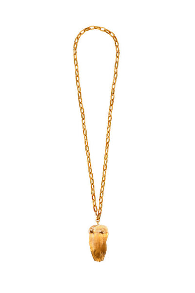 "Sylvia Benson Dunes Necklace in ""D"" on Large Drawn Chain"