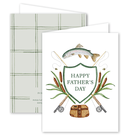 Fly Fishing Father's Day Card