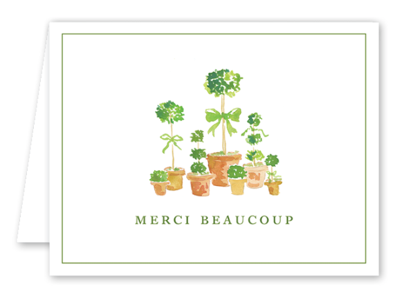 French Topiary Thank You Card