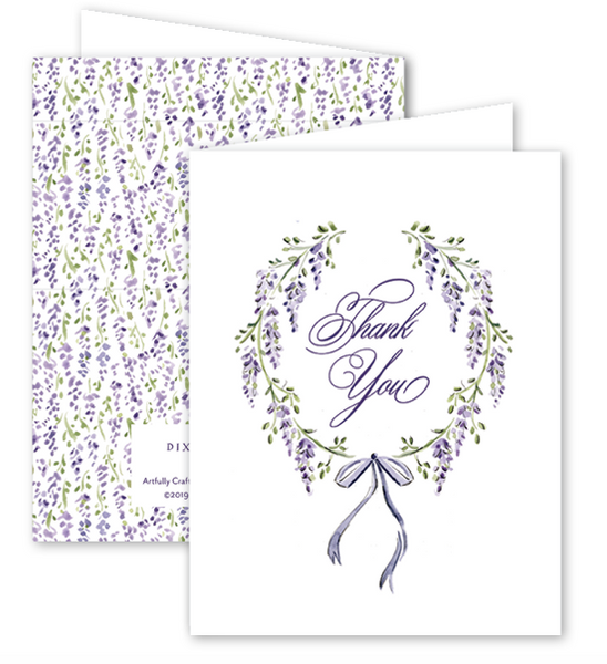 Wisteria Thank You Card