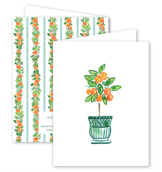 Charleston Citrus Orange Card