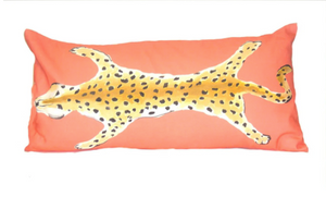 Orange Leopard Lumbar Pillow