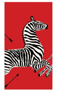 Zebras Red Guest Towels