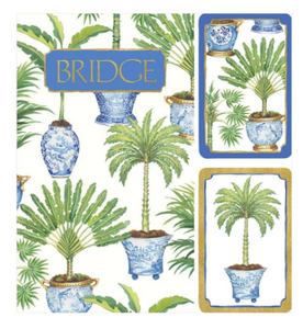 Potted Palms Bridge Gift Set
