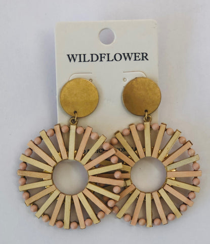 Blush Spoke Earrings