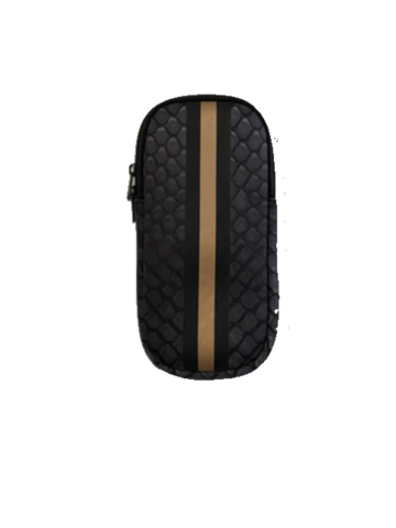 Black Croc Glasses Case