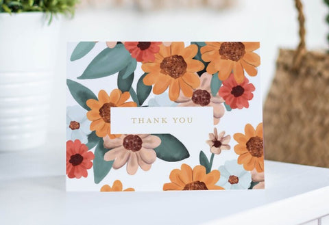 Hollypolly Prints Floral Thank You Card Set