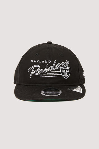 Oakland Raiders 9Fifty Black Retro Crown Snapback