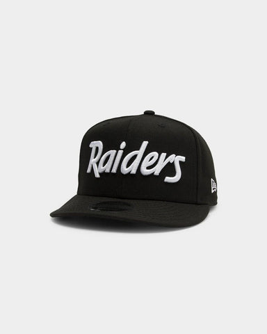 Las Vegas Raiders 9Fifty Black White Retro Crown