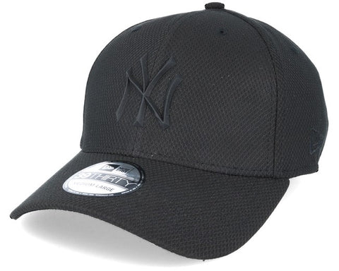 New York Yankees Rubber Logo 39Thirty Cap Black/Black