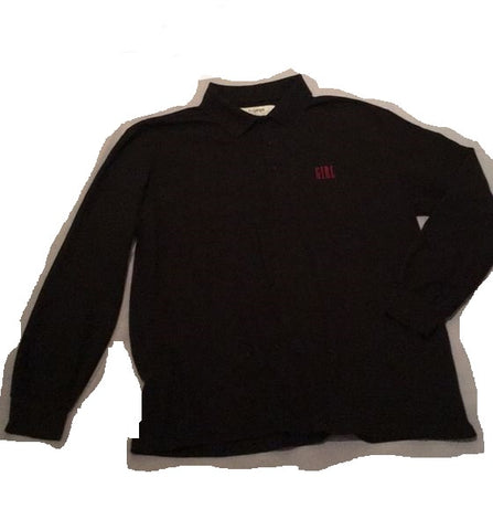 Girl L/S Polo - Black