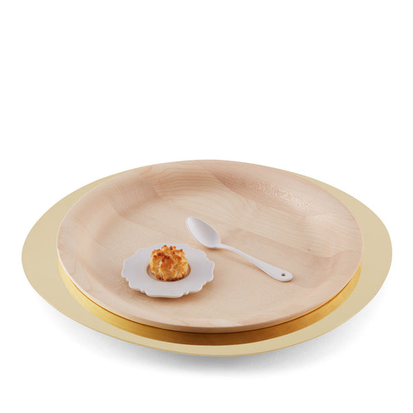 AURORA – WOODEN AND brass TRAY
