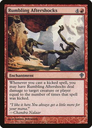 Rumbling Aftershocks [Worldwake] | Red Dragon Gaming