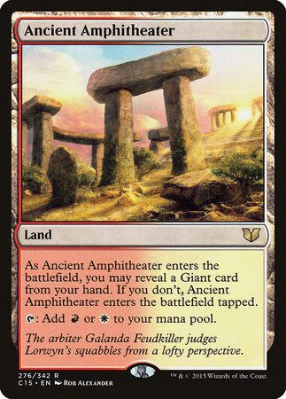 Ancient Amphitheater [Commander 2015] | Red Dragon Gaming