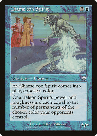 Chameleon Spirit [Mercadian Masques] | Red Dragon Gaming