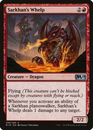 Sarkhan's Whelp [Core Set 2019] | Red Dragon Gaming