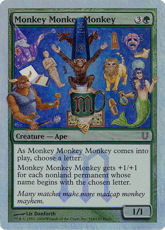 Monkey Monkey Monkey (Alternate Foil) [Unhinged] | Red Dragon Gaming