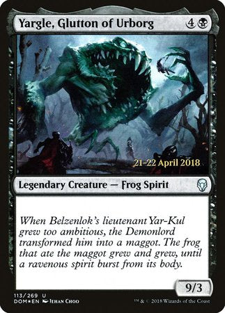 Yargle, Glutton of Urborg [Dominaria Promos] | Red Dragon Gaming