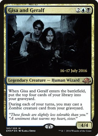 Gisa and Geralf [Eldritch Moon Promos] | Red Dragon Gaming