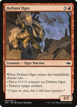 Defiant Ogre [Fate Reforged] | Red Dragon Gaming